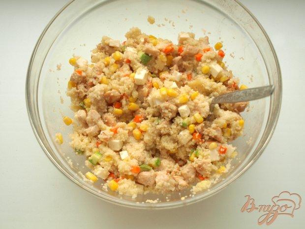 Запечённые перцы с кус-кусом и овощами