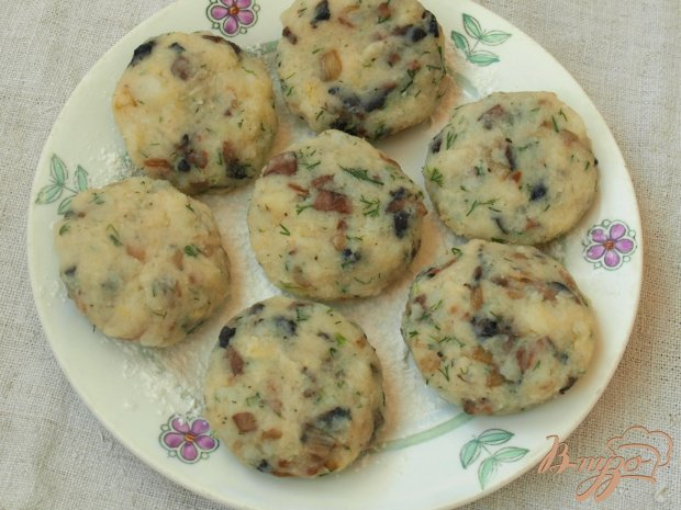 Котлеты из картофеля с шампиньонами