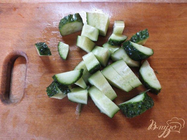 Салат овощной с салатом латук и семенами льна