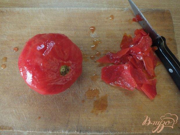 Холодный томатный суп с печеной тыквой