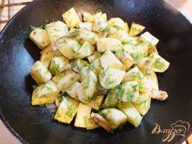 Печенный картофель с салом и орегано