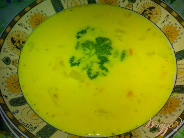 Суп овощной с сыром