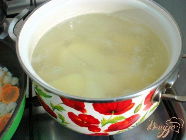 Печёночное суфле на картофельной подушке
