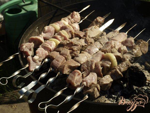 Шашлык из свинины маринованный в кефире