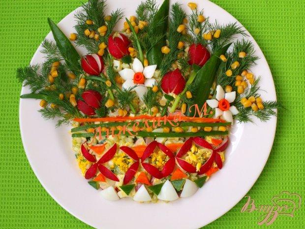 """Салат """"Букет весенних цветов"""""""