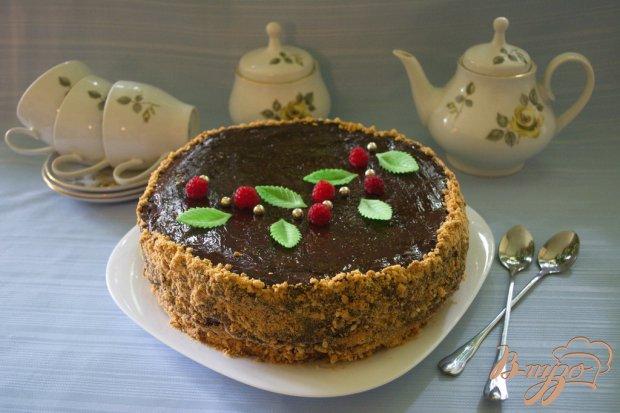 Карамельный торт с шоколадным кремом