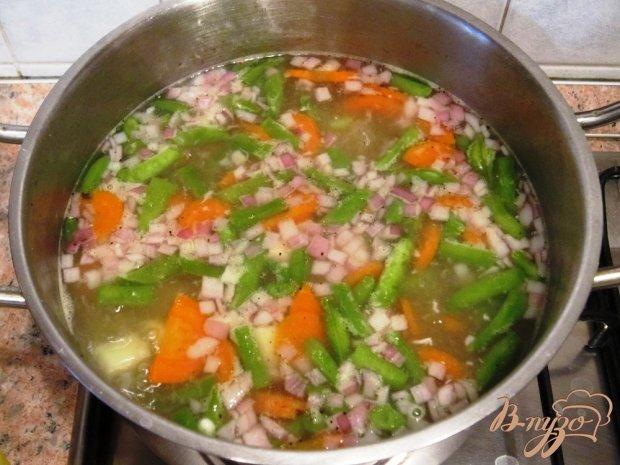 Мясной суп с овощами