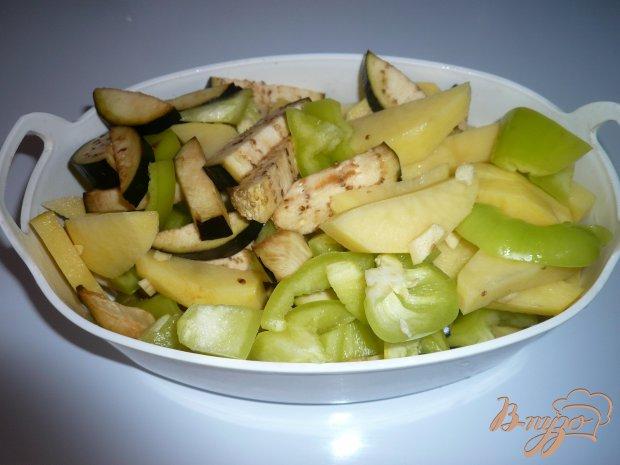 Овощи с уткой в духовке