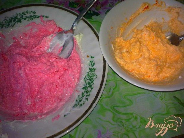 Десерт творожный с малиной