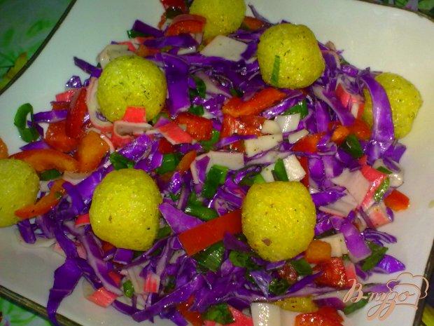 Салат с шариками