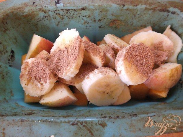 Банан запеченный с тыквой и яблоками