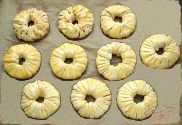 Ананасовые кольца в слоёном тесте