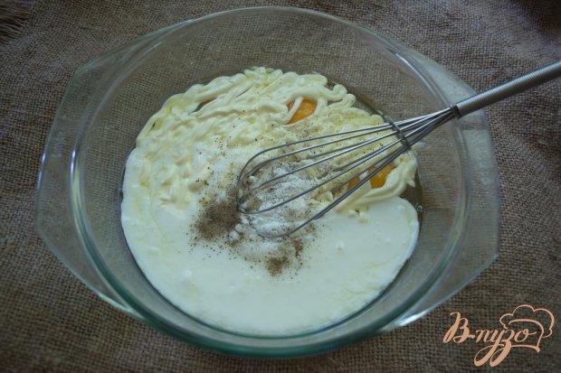 Пирог наливной с капустой и курицей