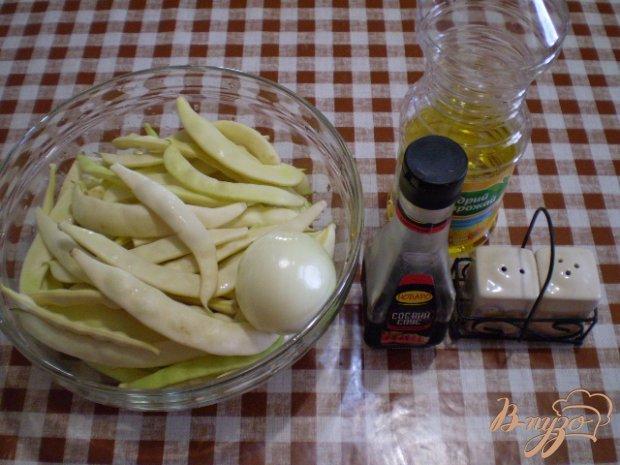 Спаржевая фасоль с соевым соусом