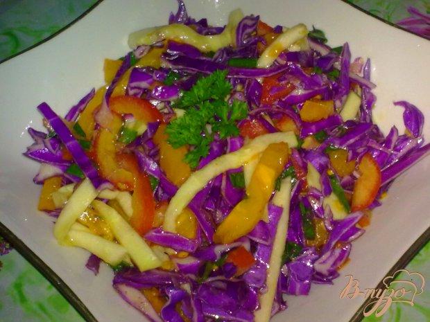 Салат из капусты с кабачком