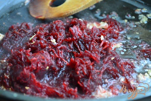 Спагетти со свеклой и сыром маскарпоне