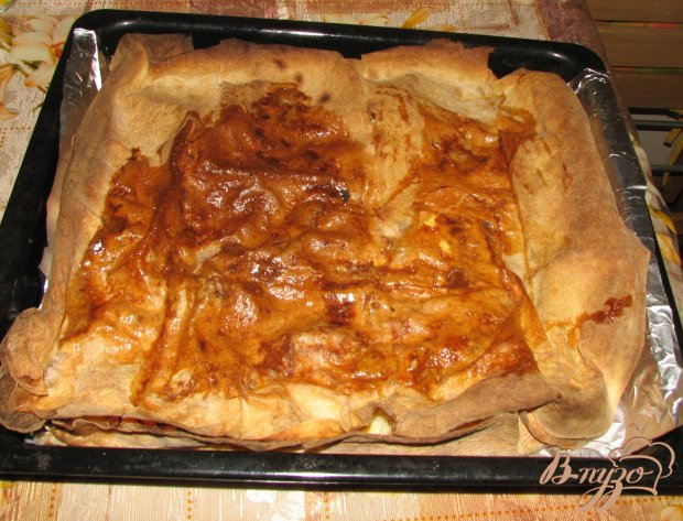 Овощной пирог в армянском лаваше