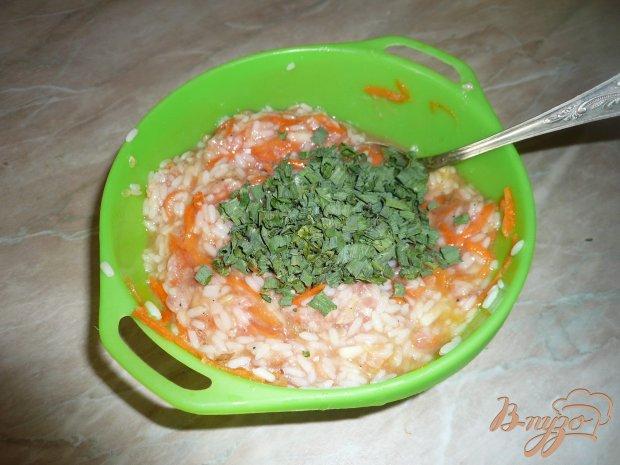 Запеканка из фарша с рисом и морковью