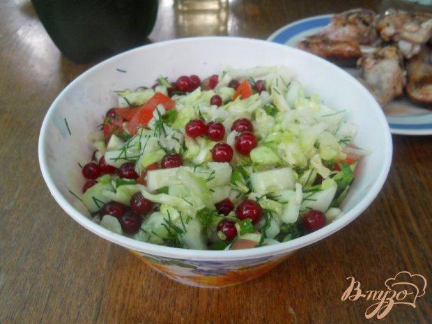 Капустный салатик с красной смородиной