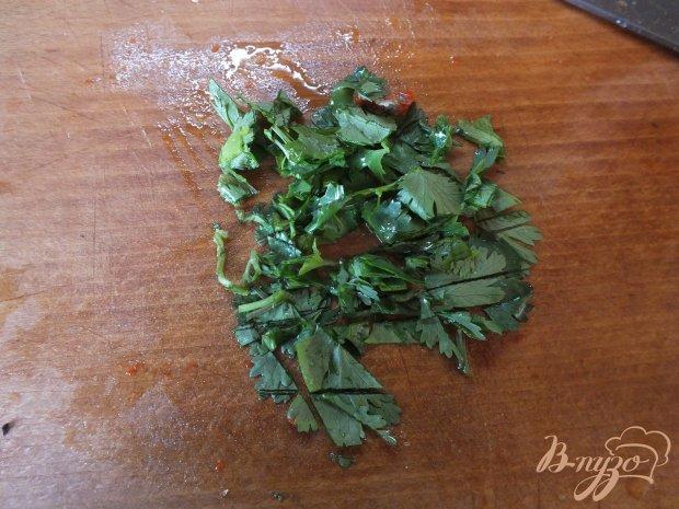 Салат из вареного болгарского перца с кинзой
