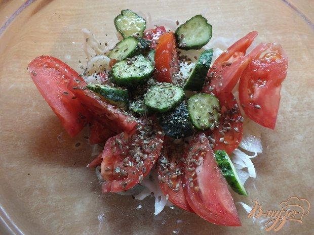 Салат с капустой и чабером
