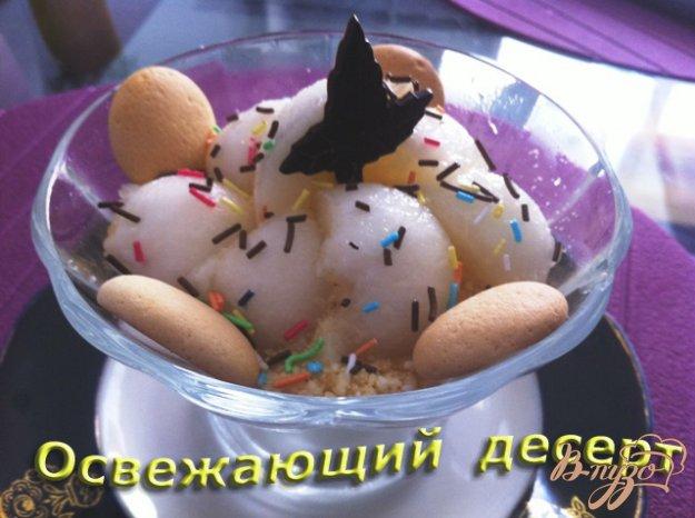 Рецепт Десерт из дыни и творожного крема