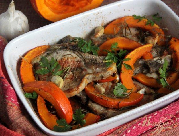 Рецепт Свинина на косточке с тыквой