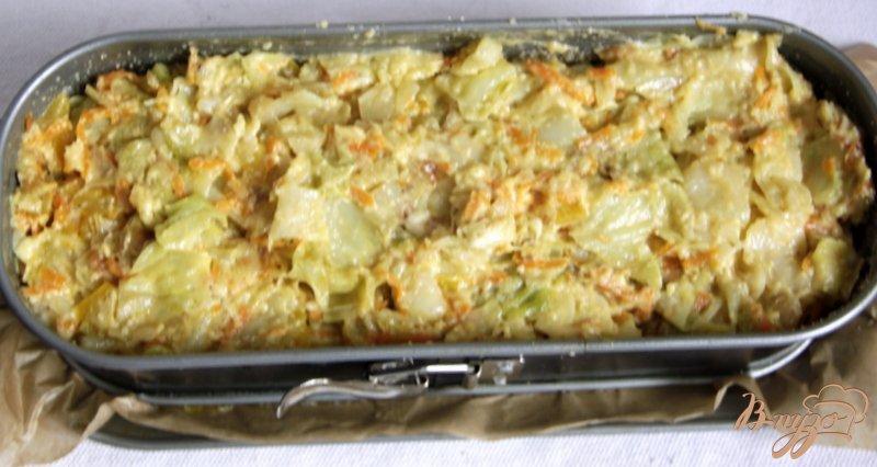 Фото приготовление рецепта: Капустное суфле-запеканка шаг №6