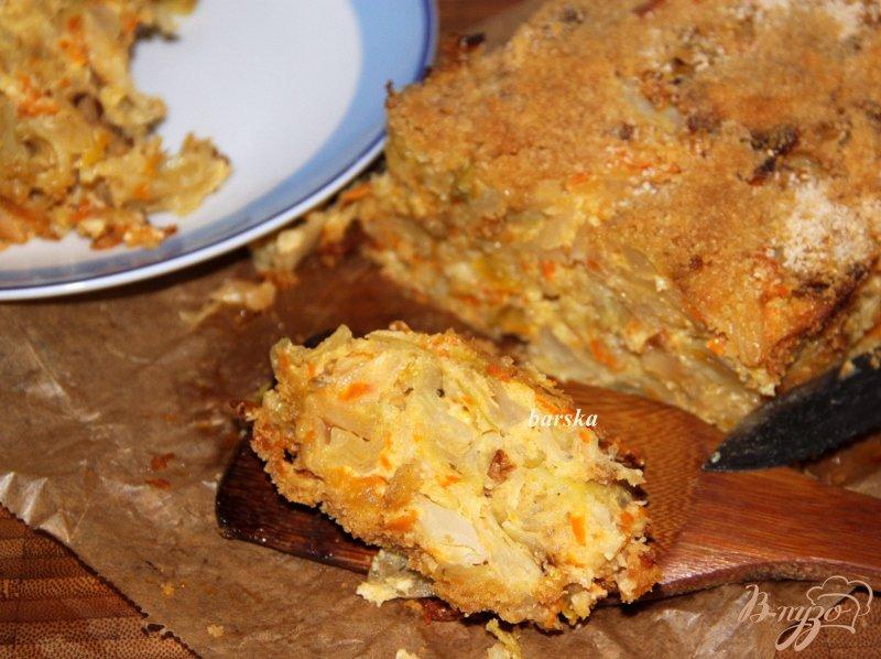 Фото приготовление рецепта: Капустное суфле-запеканка шаг №9
