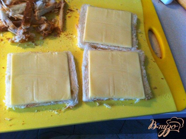 Фото приготовление рецепта: Бутерброды-трубочки шаг №2