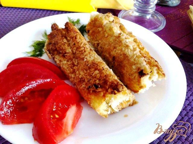 Фото приготовление рецепта: Бутерброды-трубочки шаг №7