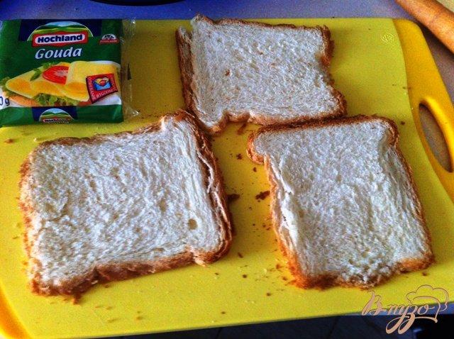 Фото приготовление рецепта: Бутерброды-трубочки шаг №1
