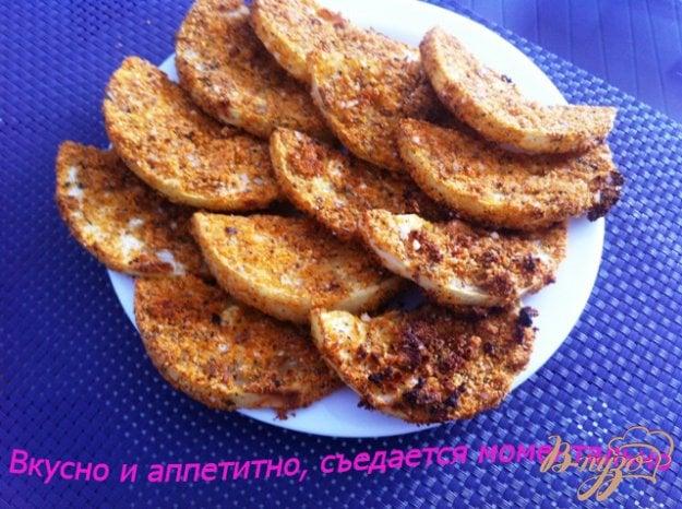 фото рецепта: Кружочки кабачков в панировке