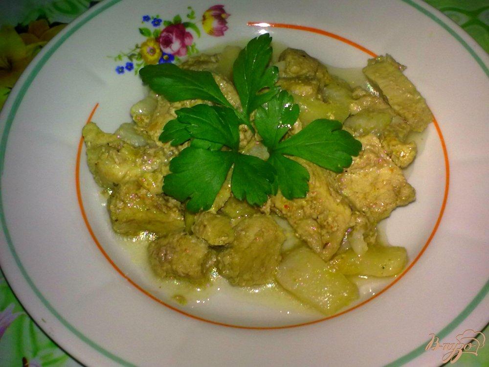 Фото приготовление рецепта: Свинина с грушей шаг №6