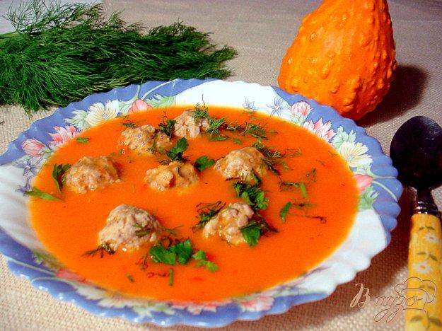 фото рецепта: Овощной суп пюре с фрикадельками