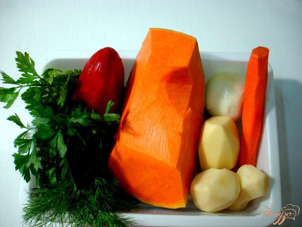 Фото приготовление рецепта: Овощной суп пюре с фрикадельками шаг №4