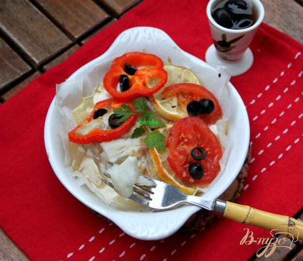 Рецепт Треска с овощами в пергаменте