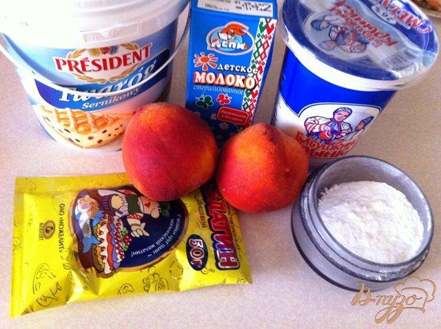 Фото приготовление рецепта: Бланманже творожный с персиками шаг №1
