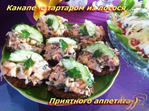 Рецепт Канапе с тартаром из лосося