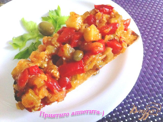 Фото приготовление рецепта: Капоната (Caponata) шаг №15