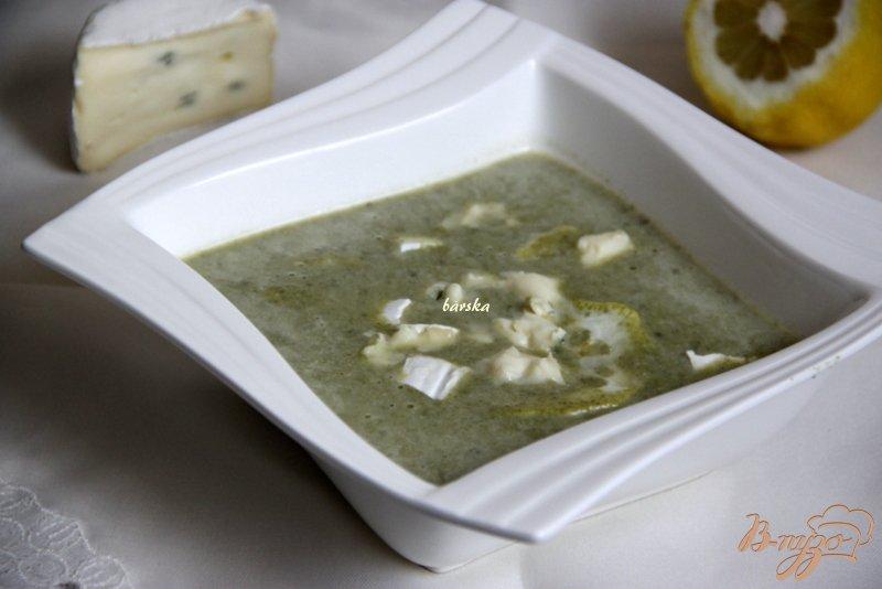 Фото приготовление рецепта: Суп-пюре со шпинатом и голубым сыром шаг №7