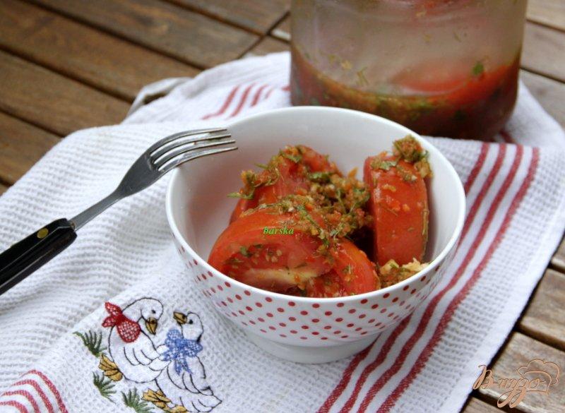Фото приготовление рецепта: Закуска из помидоров