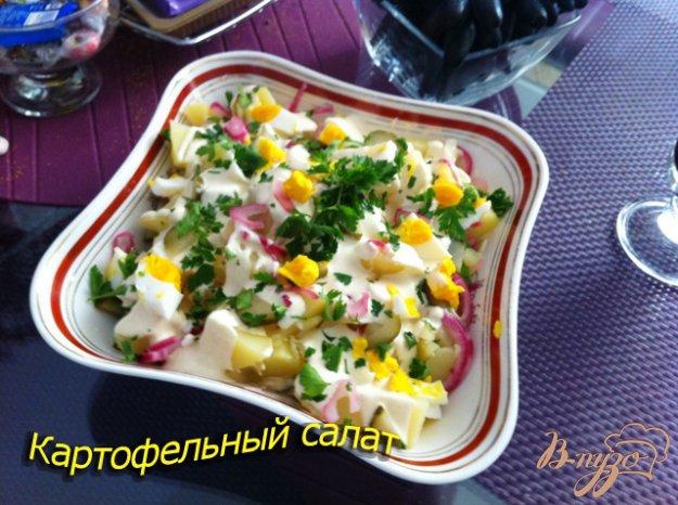 Рецепт Картофельный салат с куриными яйцами