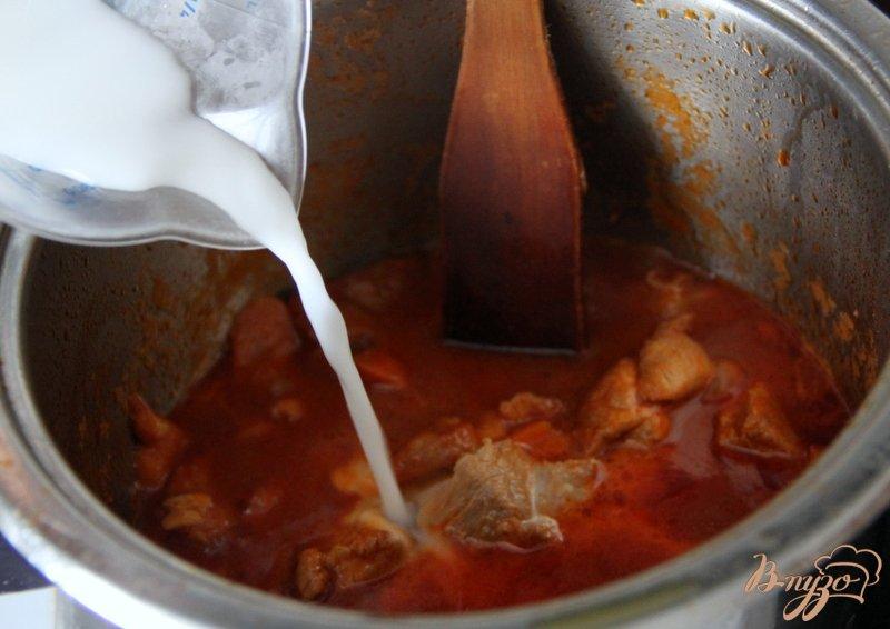 Фото приготовление рецепта: Свинина с морковью по-китайски шаг №9