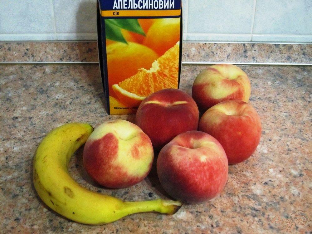 Фото приготовление рецепта: Персиково-банановый смузи шаг №1