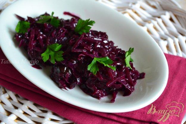 Рецепт Гарнир из красной капусты со сливами