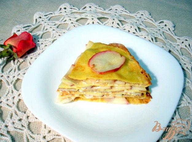Рецепт Блинный яблочный пирог