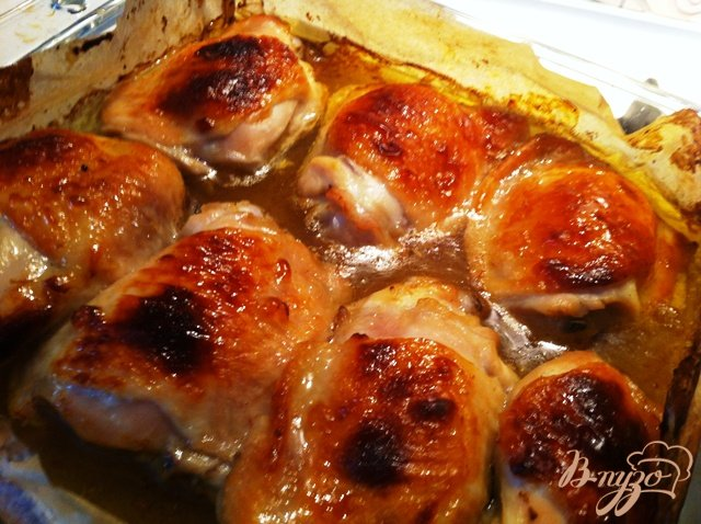 Фото приготовление рецепта: Куриные бедрышки в горчичном маринаде шаг №5