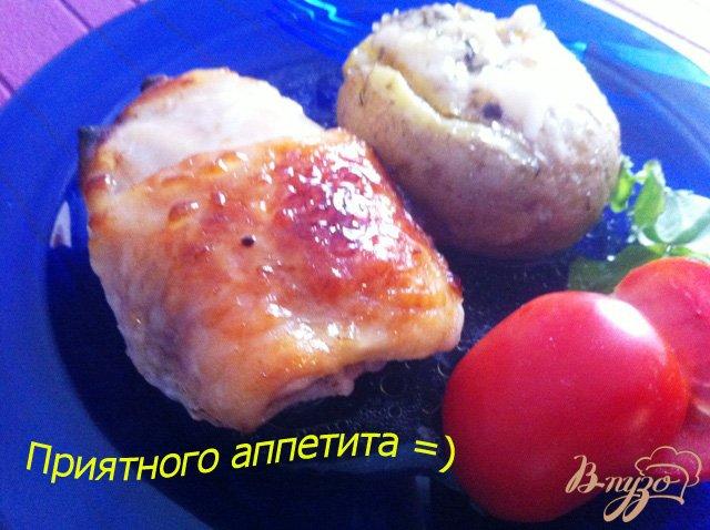 Фото приготовление рецепта: Куриные бедрышки в горчичном маринаде шаг №6