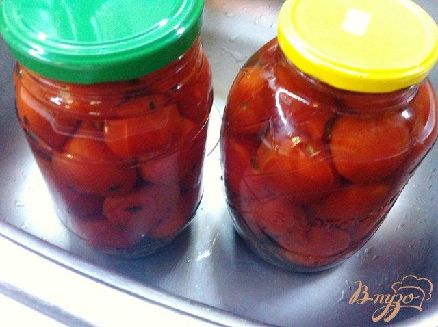 Фото приготовление рецепта: Маринованные помидоры без стерилизации шаг №6